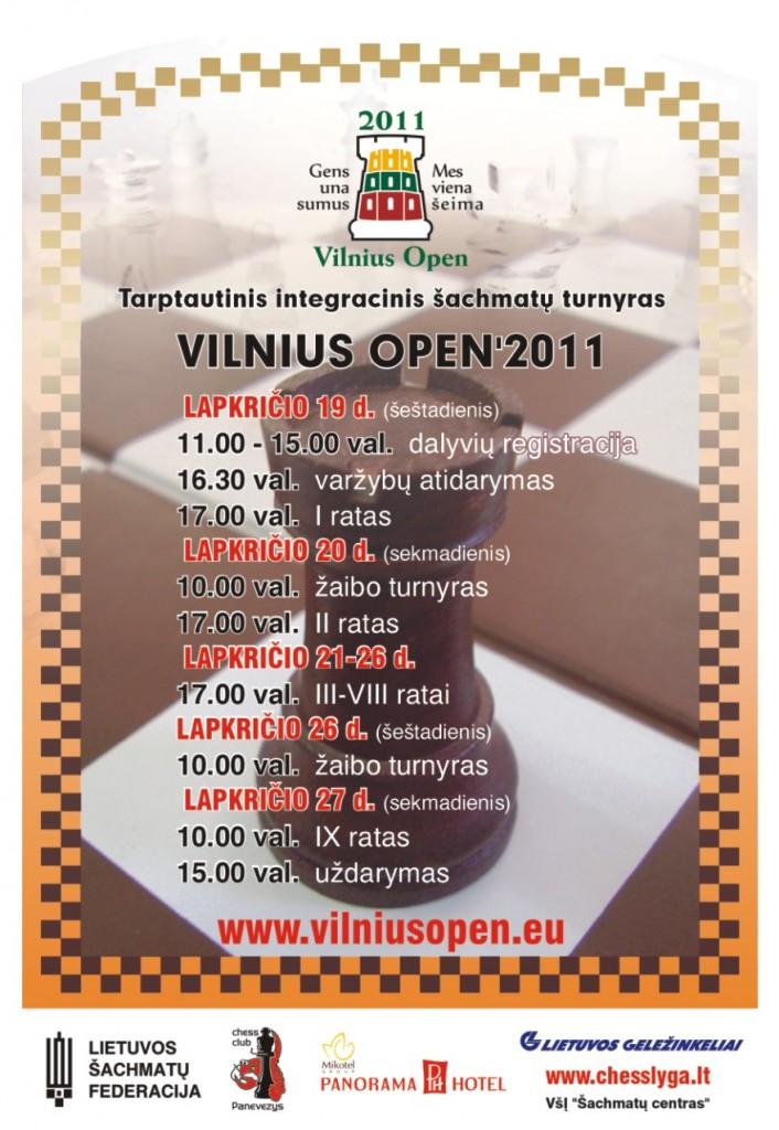 Tarptautinis integracinis šachmatų turnyras VILNIUS OPEN 2011