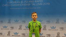Europos jaunių greitųjų šachmatų čempionate medalį iškovojo G.Morkūnas