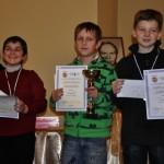 B turnyro prizininkai: 3 vieta – Aras Vardanyan (Vilnius), 1 vieta – Lukas Stauskas (Šiauliai), 2 vieta – Aleksandras Šalna (Vilnius)
