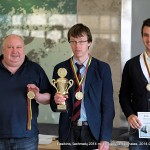 GM Aloyzas Kveinys - II-oji vieta; GM Šarūnas Šulskis - čempionas; IM Tomas Laurušas - III-oji vieta