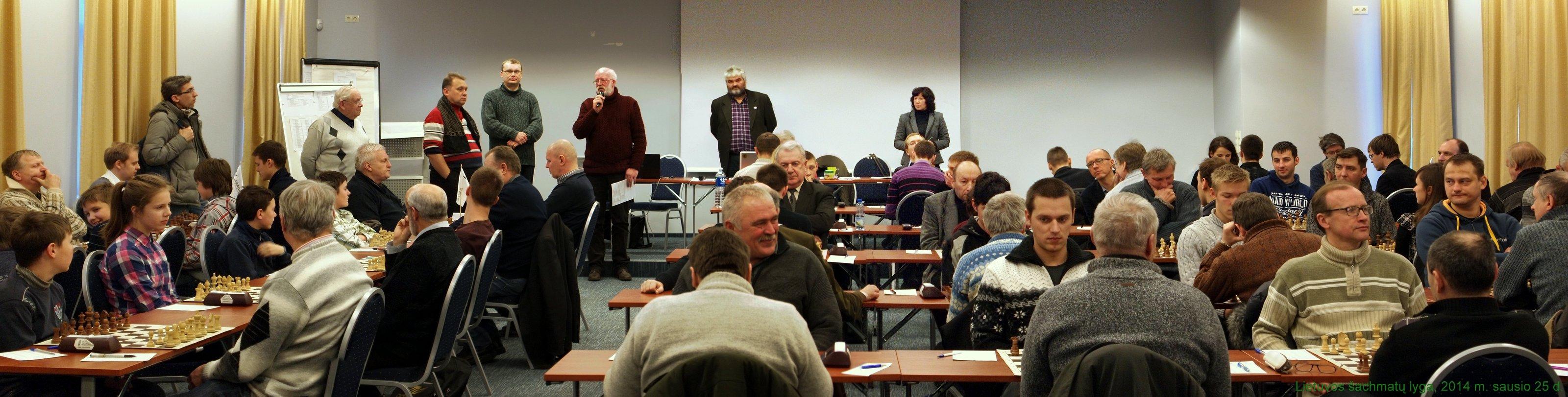 Lietuvos šachmatų lyga; 2014 m. sausio 25 diena, Vilnius