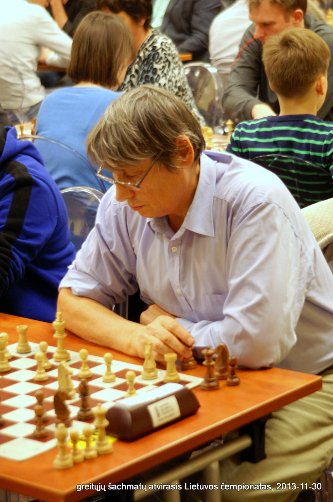 greitųjų šachmatų atvirasis Lietuvos čempionatas, 2013-11-30; Jurijus Jeriominas