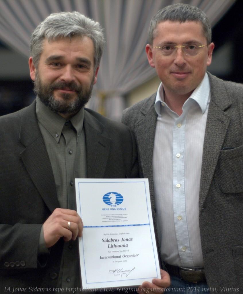 Jonas Sidabras - FIDE tarptautinės kategorijos arbitras ir FIDE renginių organizatorius