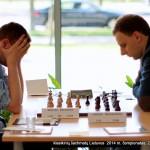 klasikinių šachmatų Lietuvos 2014 m. čempionatas; Sigitas Kalvaitis, Vaidas Šetkauskas