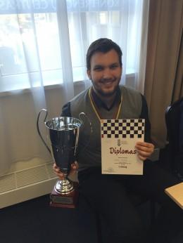 Lietuvos šachmatų čempionate – dramatiška T.Laurušo pergalė