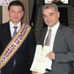 Kauno šachmatininkų draugijos įsteigimo 90-mečio paminėjimas, Kirsan Nikolayevich Ilyumzhinov, Jonas Sidabras