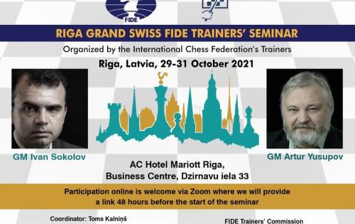 Kvietimas į FIDE trenerių seminarą Rygoje